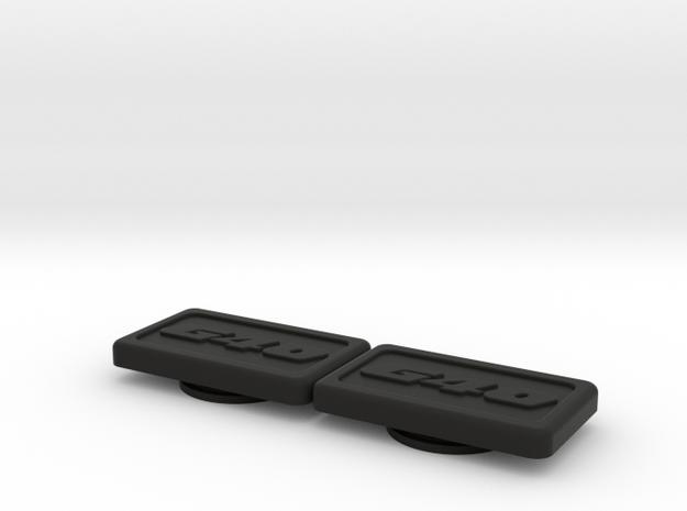 Badge for VW Golf 2 G40 G60 in Black Natural Versatile Plastic