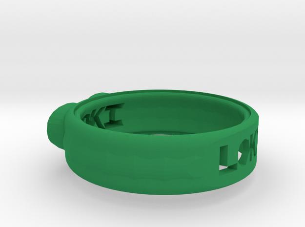 Ring for Loki in Green Processed Versatile Plastic