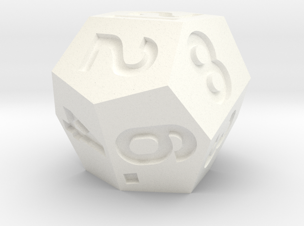 d12 Weird But Fair in White Processed Versatile Plastic