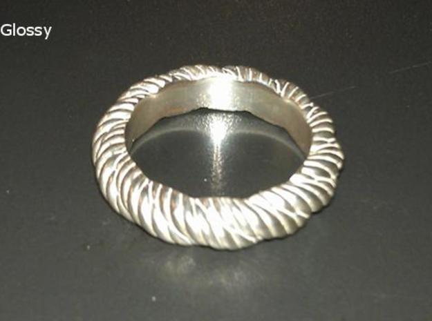 Torque Ring Size 17 (Q) 3d printed in Silver Glossy