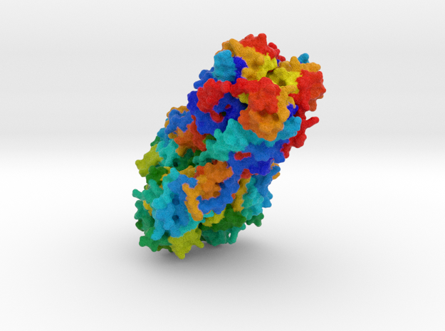 Hemagglutinin Influenza B Virus in Full Color Sandstone