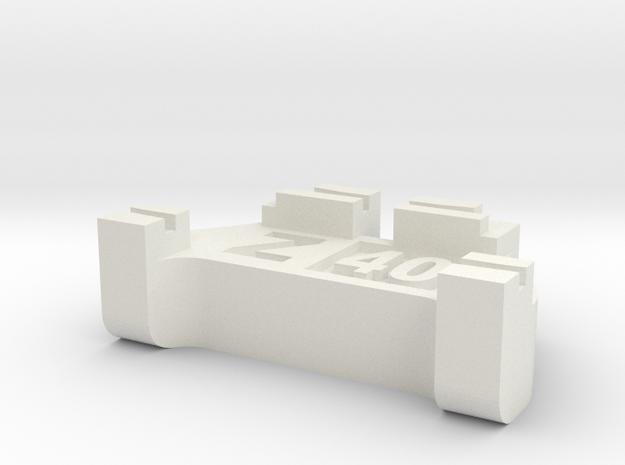Z Scale Track Gauge - Code 40 in White Natural Versatile Plastic