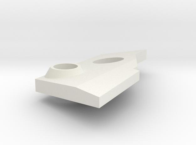 VF-25 Modified Right Shoulder Plate in White Natural Versatile Plastic