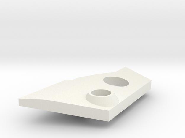 VF-25 Modified Left Shoulder Plate in White Natural Versatile Plastic