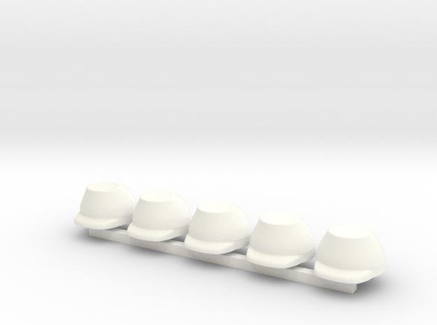 5 x French Kaeppi in White Processed Versatile Plastic