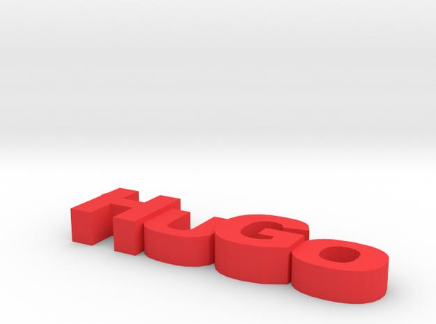 Hugo Keychain in Red Processed Versatile Plastic
