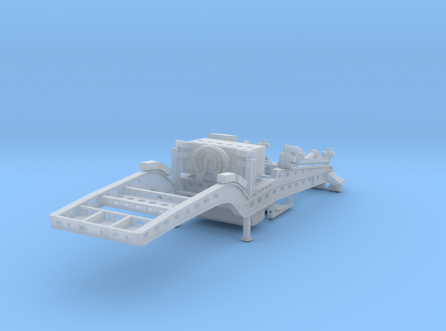 West Coast 9-axle Lowbed - Jeep in Smooth Fine Detail Plastic