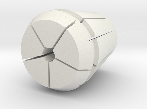 Collet-w-hex-21875-revA in White Strong & Flexible