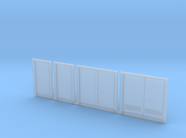 HO Scale Doors 4pc in Smooth Fine Detail Plastic