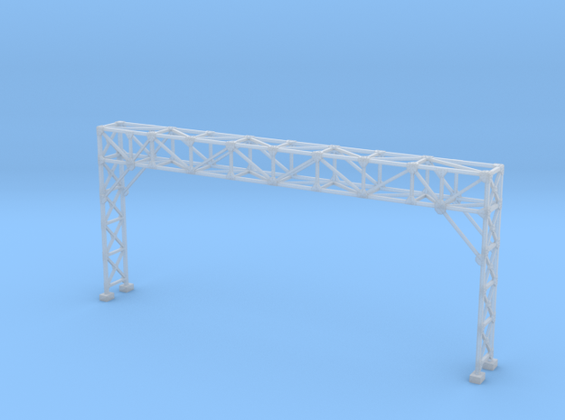 HO Scale Signal Gantry 4 tracks in Smooth Fine Detail Plastic