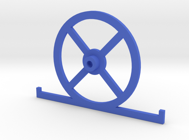 V1.6 Setup Wheel with toe plates  in Blue Processed Versatile Plastic
