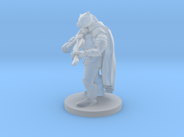 Werebear Bard with Violin in Smooth Fine Detail Plastic