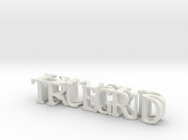 3dWordFlip: TRUEGRID/Pavers in White Natural Versatile Plastic