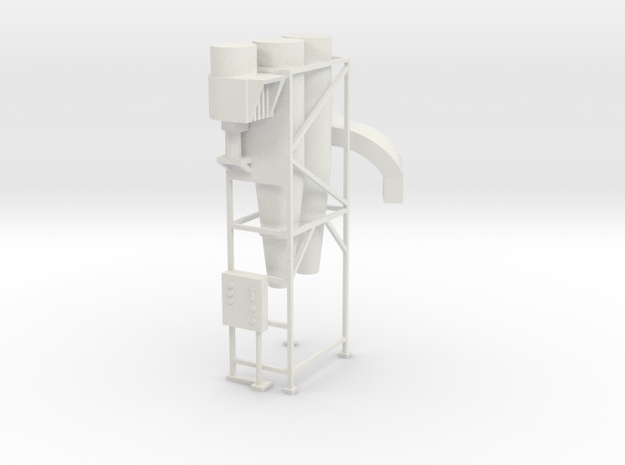 Cyclone Dust Collecter - HO 87:1 Scale in White Natural Versatile Plastic