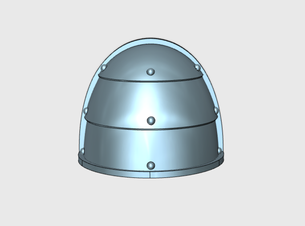 10x Blank - G1:l Pauldron in Smooth Fine Detail Plastic