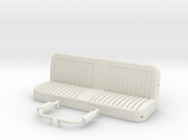Blazer Rear Seat  in White Natural Versatile Plastic