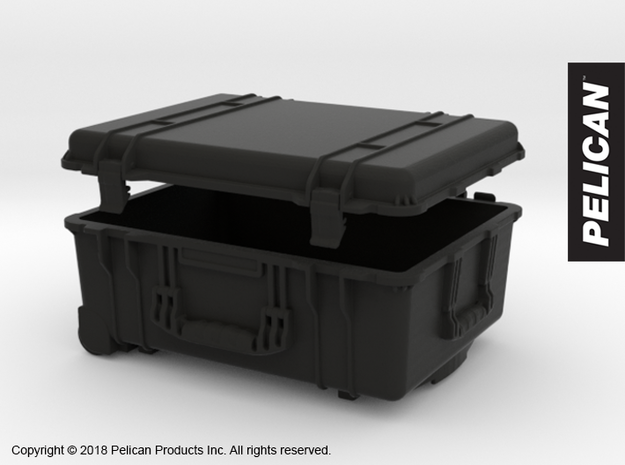 PC10001 Pelican 1560 large case 1:10th scale in Black Strong & Flexible