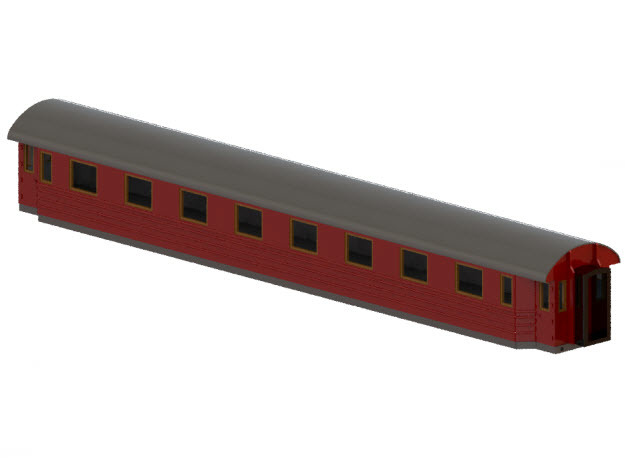 Bo5b - Swedish passenger wagon in Smooth Fine Detail Plastic