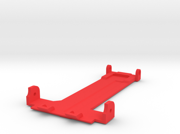 Tamiya Thundershot Rear Skid Plate in Red Strong & Flexible Polished