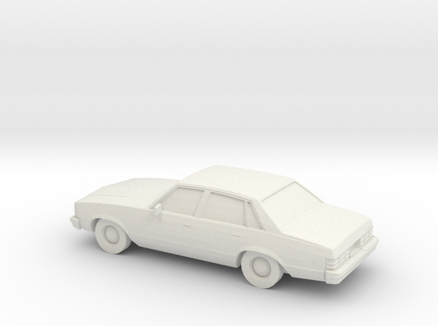 1/24 1980 Chevrolet  Malibu Sedan in White Natural Versatile Plastic