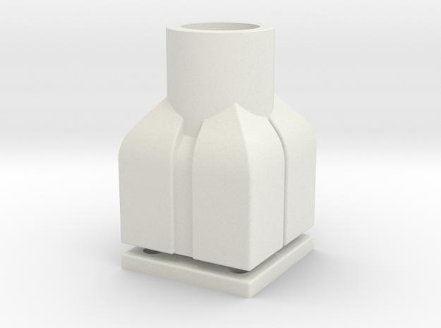 First Order Ballistic Riot Shield Flashlight Mount in White Natural Versatile Plastic