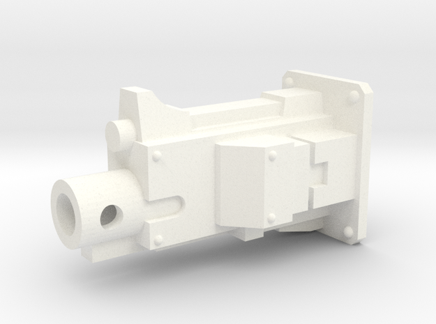 Wyvern Pattern Hover Bike Heavy Bolt Weapon in White Processed Versatile Plastic: Small