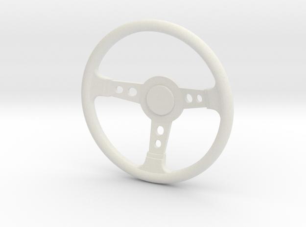 Scale steering wheel in White Natural Versatile Plastic