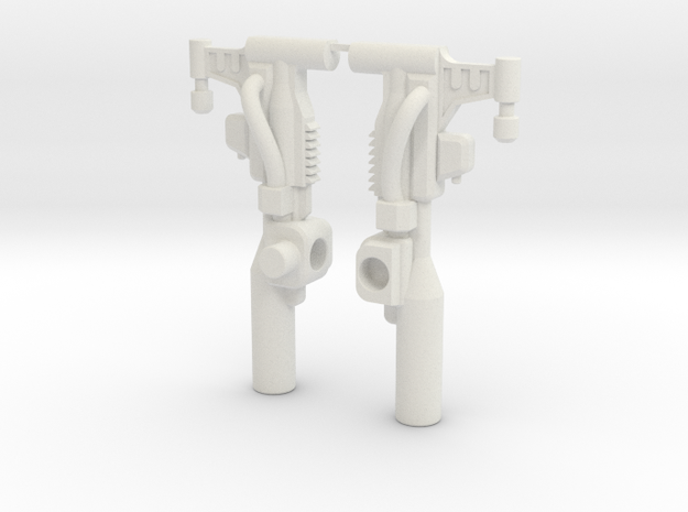 Slug Dual Blaster in White Natural Versatile Plastic