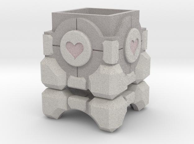 Portal Sandstone Companion Cube Ring Box in Full Color Sandstone: Medium
