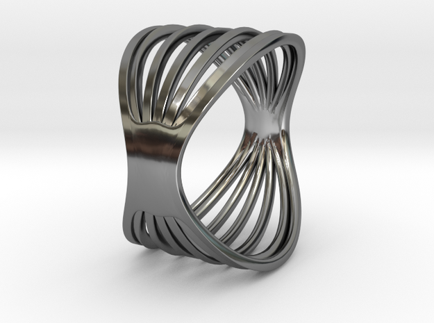 Concentric in Fine Detail Polished Silver