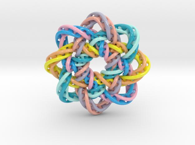 circular1 in Glossy Full Color Sandstone