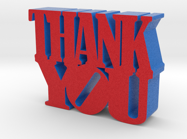 ThankYou 3d Sculpture in Full Color Sandstone