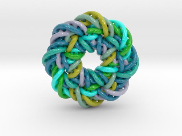 circular 3 in Glossy Full Color Sandstone