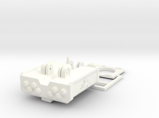 Chimerro Cube Missile Launcher in White Processed Versatile Plastic