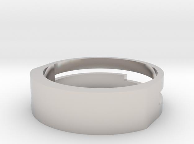 Foundation Ring in Rhodium Plated Brass: 8 / 56.75