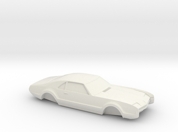 1/32 1966 Oldsmobile Toronado Shell in White Natural Versatile Plastic