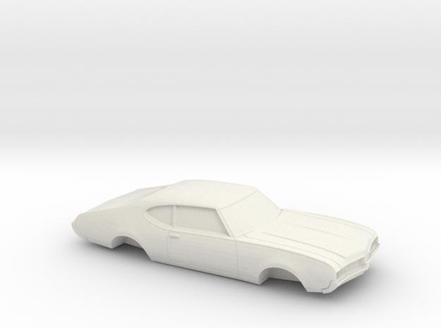 1/32 1969-72 Oldsmobile 442 Shell in White Natural Versatile Plastic