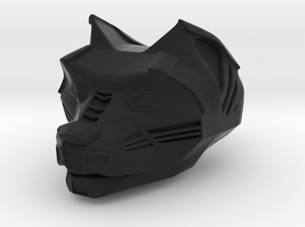 Panther Head in Black Strong & Flexible: Small