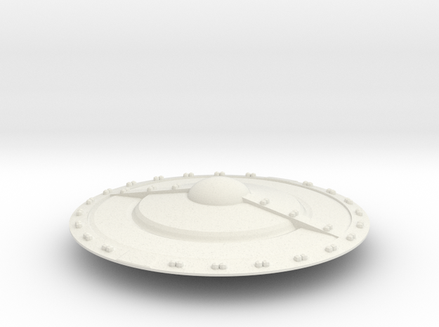 Class  D Saucer in White Natural Versatile Plastic