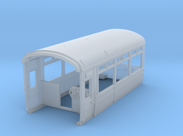 LNWR Observation car, Body A, OO in Smooth Fine Detail Plastic