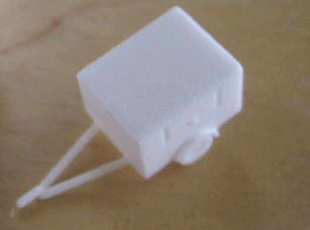 1/144 fire brigade trailer for LF 8 in White Natural Versatile Plastic