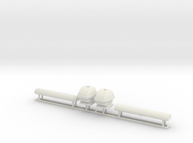 Radarantenne klein 1:25 in White Natural Versatile Plastic