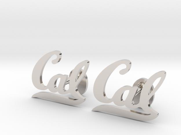 Cal Berkeley Cufflinks, Customizable in Rhodium Plated Brass
