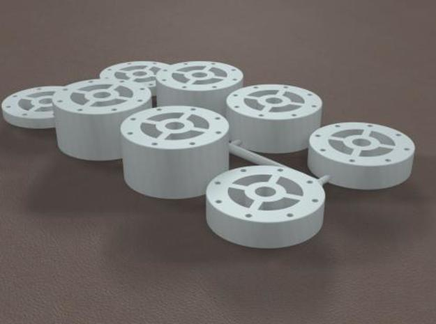 1/12 11 Inch Rearend Tube Spacer Kit 3d printed
