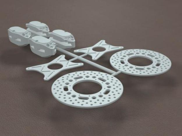 1/16 11 Inch Rearend Quad Brake Kit in Frosted Ultra Detail