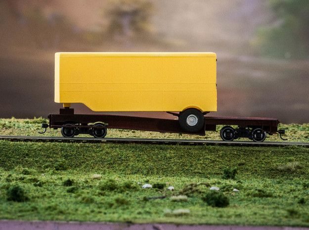 ET&WNC Trailer O Scale Without Roof in White Natural Versatile Plastic