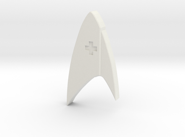 Star Trek Discovery Medical badge in White Natural Versatile Plastic
