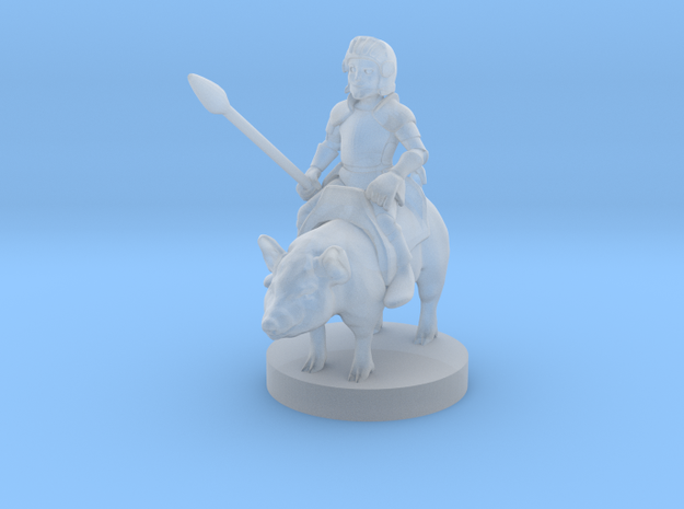Halfling Cavalier with Piggy in Frosted Ultra Detail
