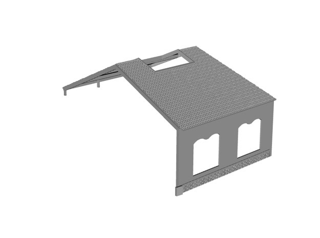 NRot10 - Railway roundhouse in White Natural Versatile Plastic