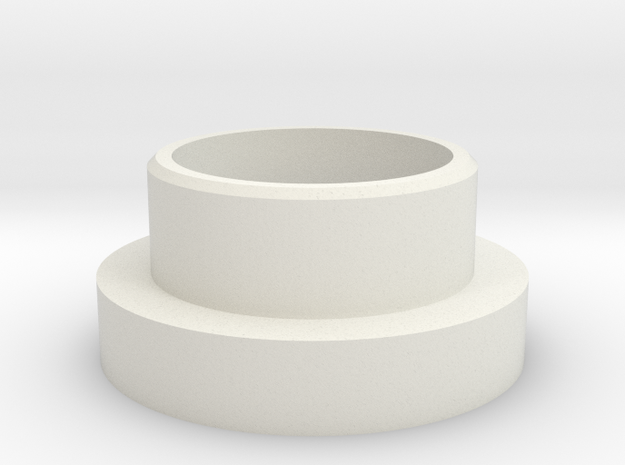 """TGS-Neopixel Adapter 1"""" thick in White Natural Versatile Plastic"""